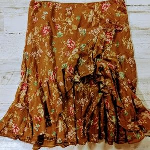 American Living Skirt size small floral